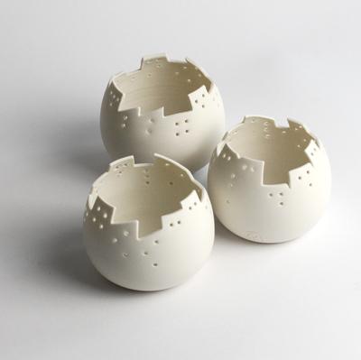 photophore porcelaine ville