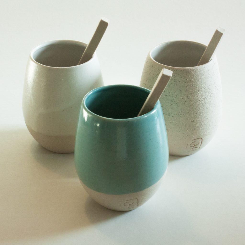gobelets gres fin ceramique design geraldine k ceramiste