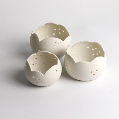 photophore porcelaine corolle