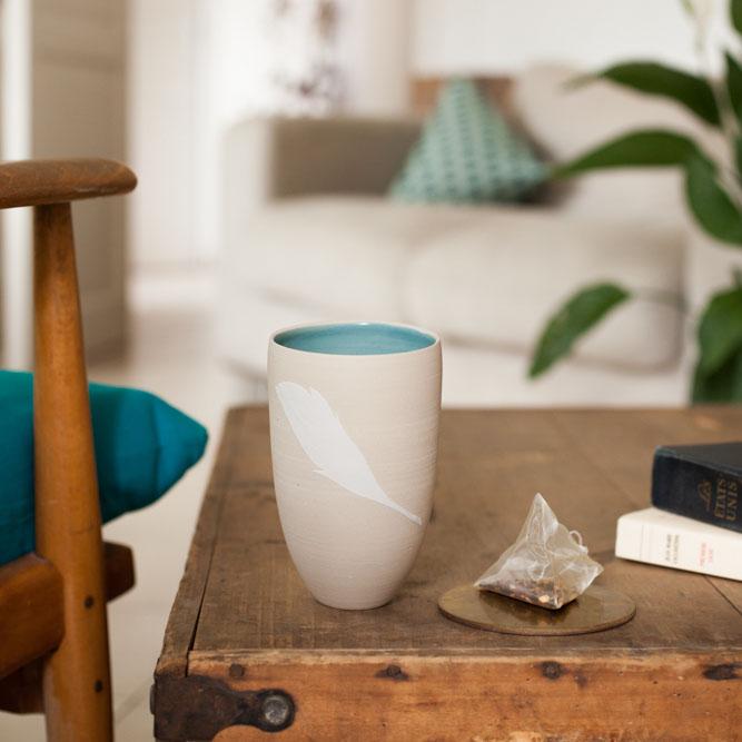 gobelets à thé par Géraldine K. Céramiste