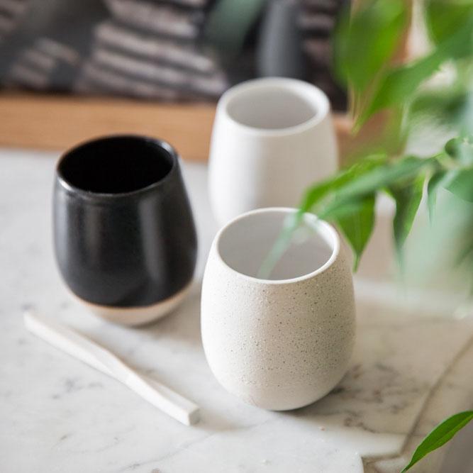 gobelets à café par Géraldine K. Céramiste