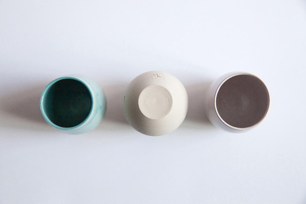 gobelets a café pastels par Geraldine K ceramiste